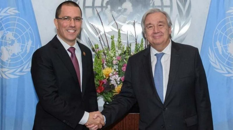 Chancellor Arreaza Met with UN Secretary General Antonio Guterres
