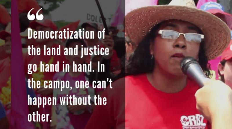 Democratize the Land, Empower the People: A Conversation with Zuleima Vergel