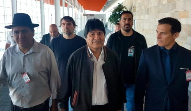Evo Morales Arrives in Argentina (Images)