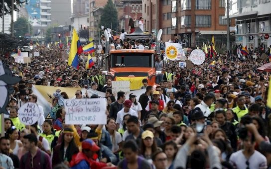 """""""Planton"""" in Colombia: Strike Committee Announces more Protests Against Duque"""