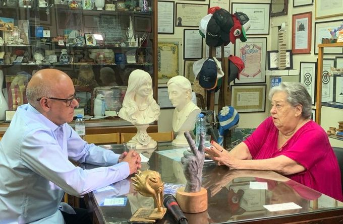 Jorge Rodríguez Held a Meeting with Hebe de Bonafini in Argentina
