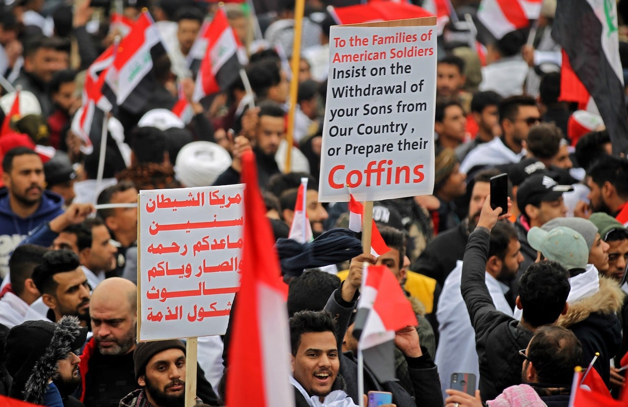 IRAQ-US-POLITICS-PROTEST