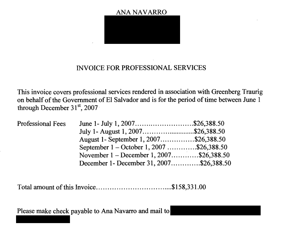 Ana-Navarro-invoice-El-Salvador-lobbying-2007