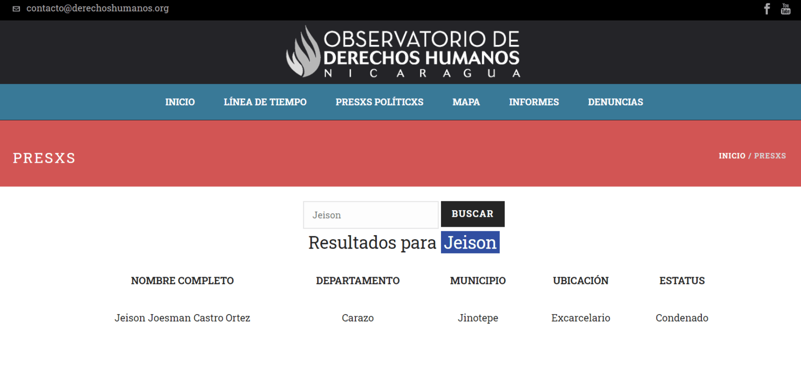 Observatorio-de-Derechos-Humanos-Nicaragua-presos-politicos-Jeison-Castro-Ortez
