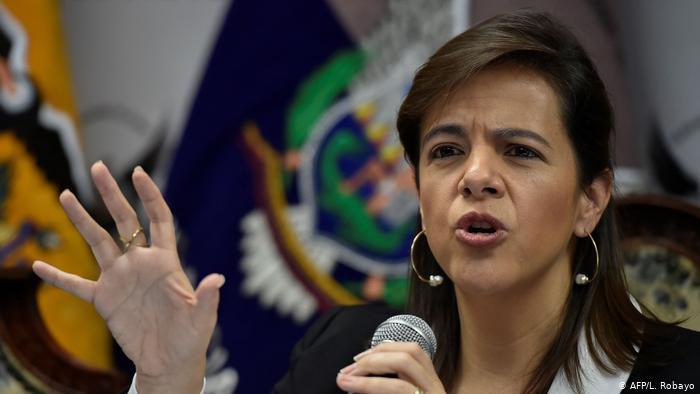 María Paula Romo dissmised minister from Ecuador.