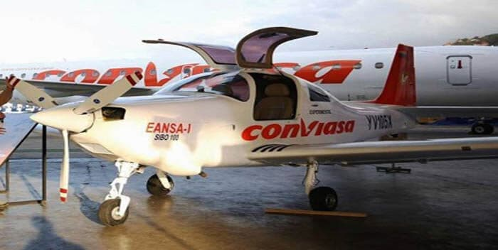 Venezuelan EANSA firt ever locally made aircraft SIBO 100