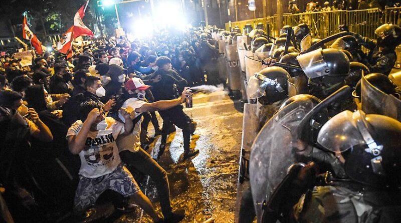 Peru protests violence Vizcarra Merino corruption xenophobia