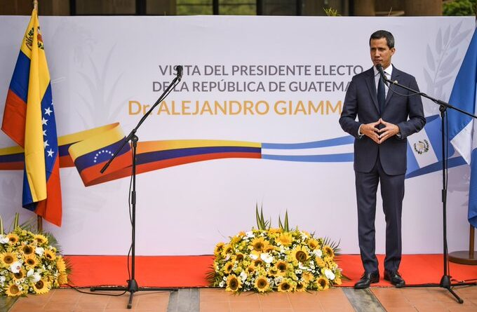 Juan Guaido Giammatei, right wingers, Venezuela, Guatemala, protests, Congress,