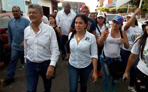 Gobernor Lady Gomoez from tachira tate and former Accion Democratica leader Henri Ramo Allup