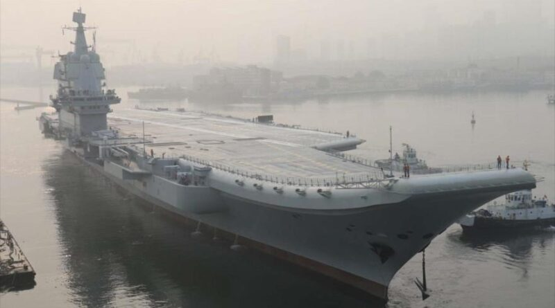 The Chinese aircraft carrier departs Dalian, Liaoning Province (northeast), May 13, 2018. (Photo: Reuters)
