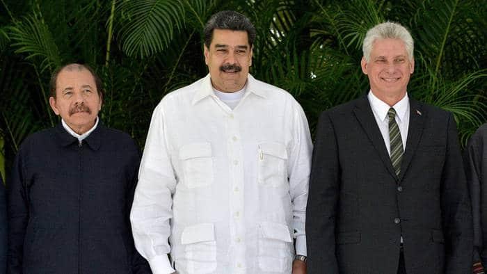 Featured image: Presidents Diaz Canel, Ortega and Maduro. File photo.