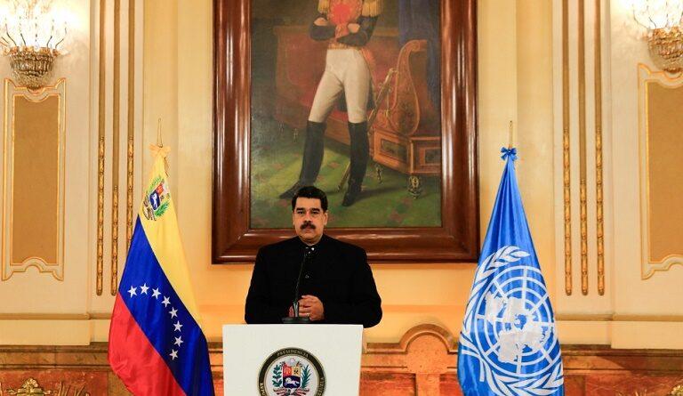 Venezuelan President Nicolas Maduro addressing United Nations on COVID-19