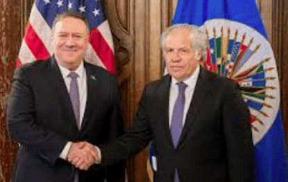 OAS' Luis Almagro has been accused by man of being in the Department of State payroll. File photo
