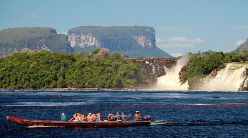 Canaima camp lagoon near Salto Angel, Venezuela