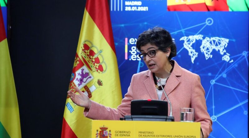 Featured image: Arancha González Laya, Minister of Foreign Affairs of Spain not knowing how to deal with Venezuelan former deputy Guaido / Photo: EFE