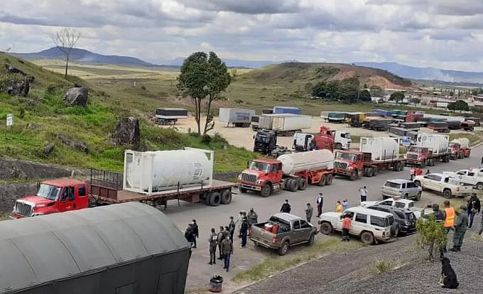 Venezuelan humanitarian aid to Brazil in form of oxygen to help in the Covid-19 collapse.