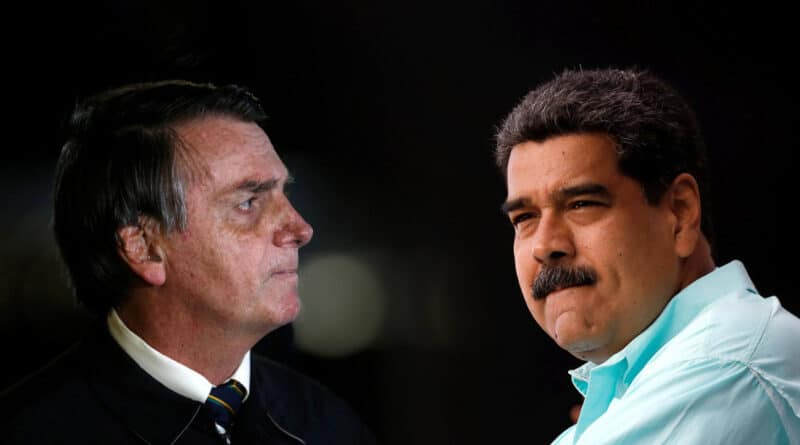 President of Brasil, Jair Bolsonaro, and of Venezuela, Nicolás Maduro. Photo credit: Adriano Machado/Carlos Garcia Rawlins/Reuters