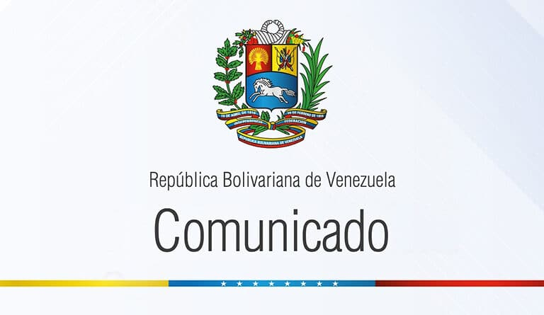 Venezuelan communique on Guyana interfering in Venezuelan internal affairs