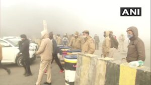 Security deployment near Ghazipur. Photo courtesy of ANI.
