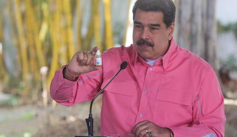 Featured image: Venezuelan President Maduro denounces campaign against Venezuelan Covid-19 antiviral on social media. File photo courtesy of Prensa Presidencial.