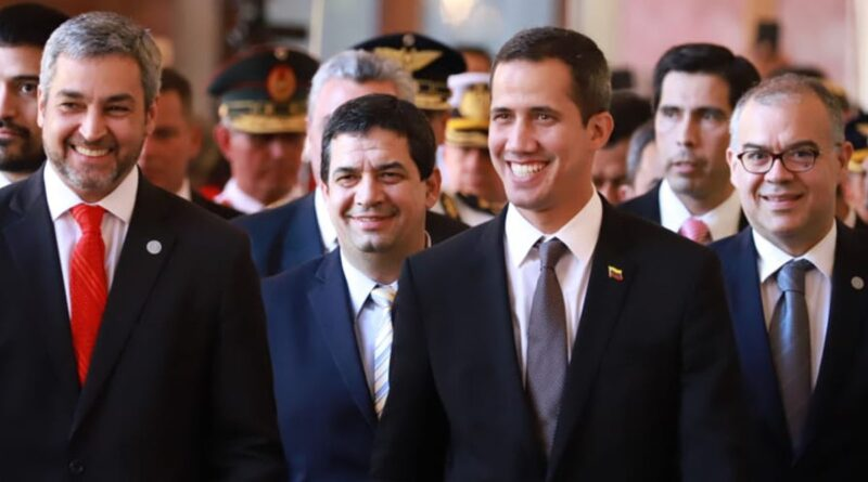 Featured image: Former deputy Guaido and President Abdo looking very happy during the visit of March 2020 and their tricky businesses. File photo.