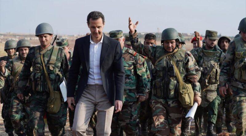 Syrian President Bashar al-Assad visits his troops in Idlib province, Syria, October 22, 2019 (Photo: SANA).