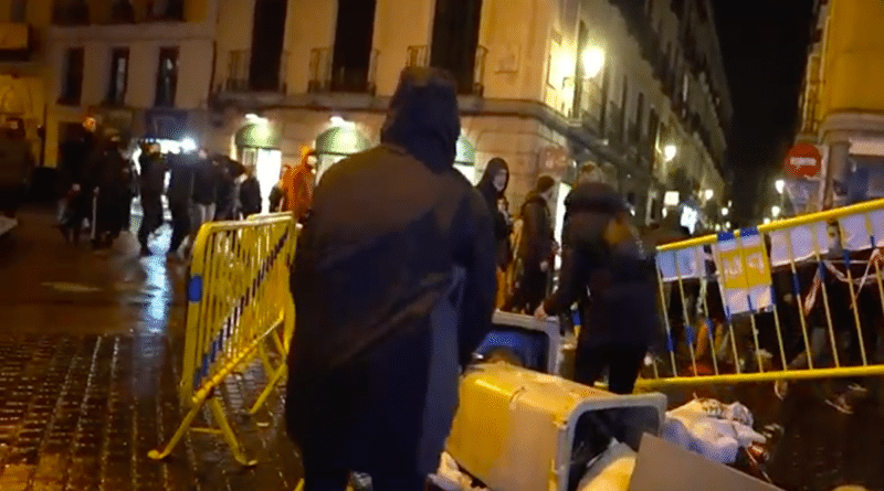 Protests in Madrid for the arrest of the anti-monarchy artist Pablo Hasel