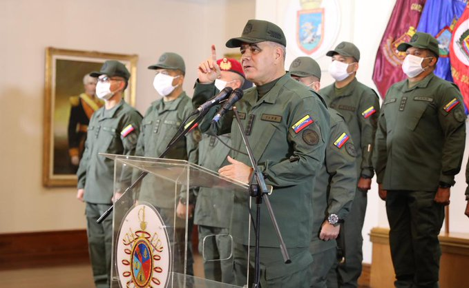 Venezuelan minister for defense, Vladimir Padrino Lopes, responded in the strongest way to Colombia's president, Ivan Duque, and his provocatory and unsustantiated statements against Venezuela. Photo courtesy of the Venezuelan Ministry of Defense.