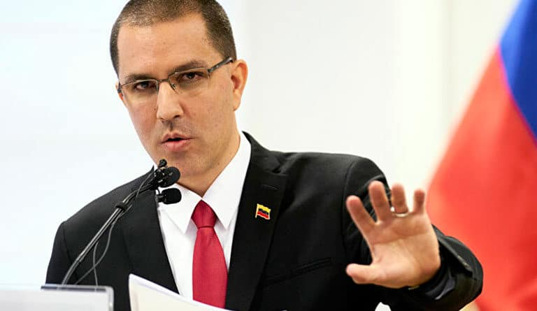 Featured image: Venezuelan Chancellor Jorge Arreaza. FIle photo.