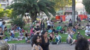 Part of the attendance. Photo courtesy of Resumen Latinoamericano.