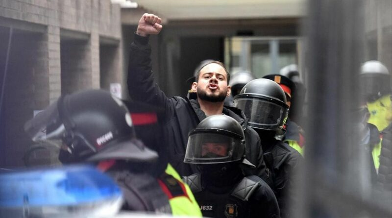 The moment of Pablo Hasel arrest. File photo.
