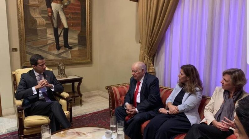 Featured image: The European diplomat, Isabel Brilhante, in a meeting with former deputy Guaido a few days after ihis self proclamation as interim president in 2019. File photo.