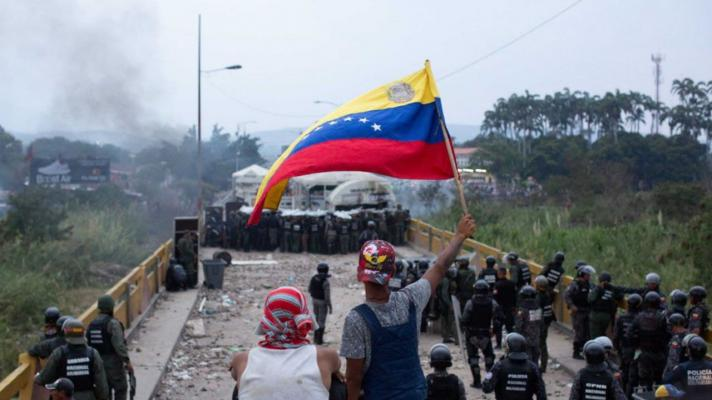 On February 23, 2019, the Chavista resistance to an irregular invasion of the territory of the Bolivarian Republic of Venezuela was carried out (Photo: Rosana Silva).