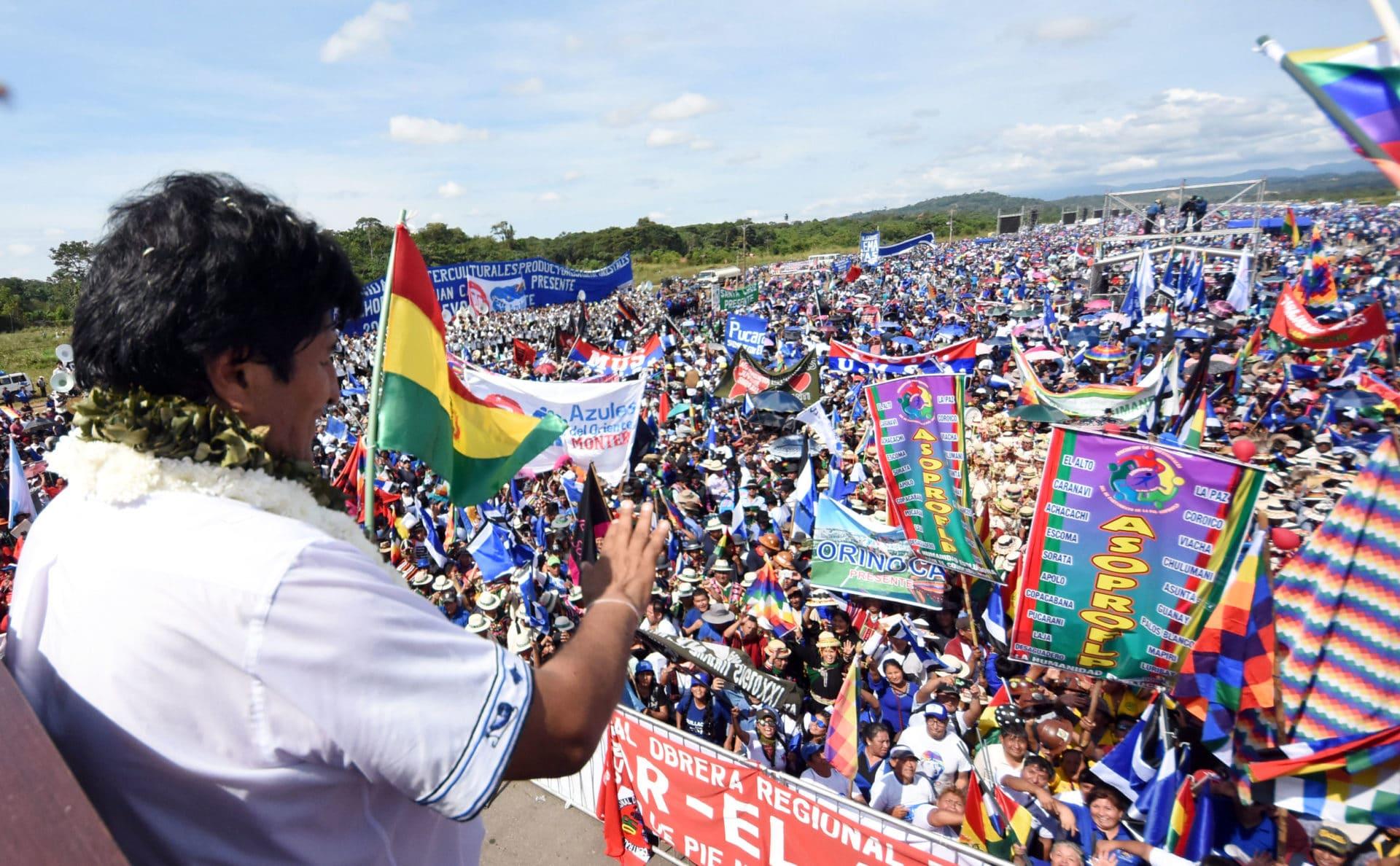 Evo Morales, Chimore, 18 May