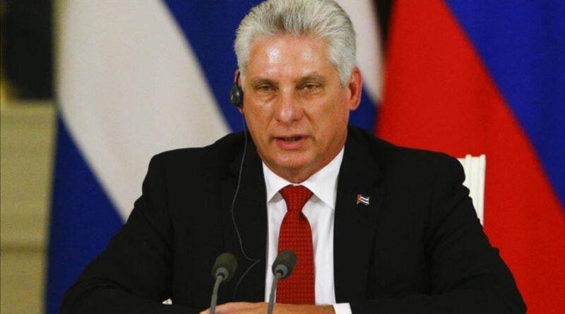 The president of Cuba, Miguel Díaz-Canel.