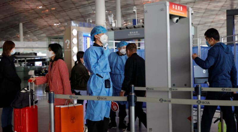 Medical personnel in Beijing, China Photo: Thomas Peters/Reuters