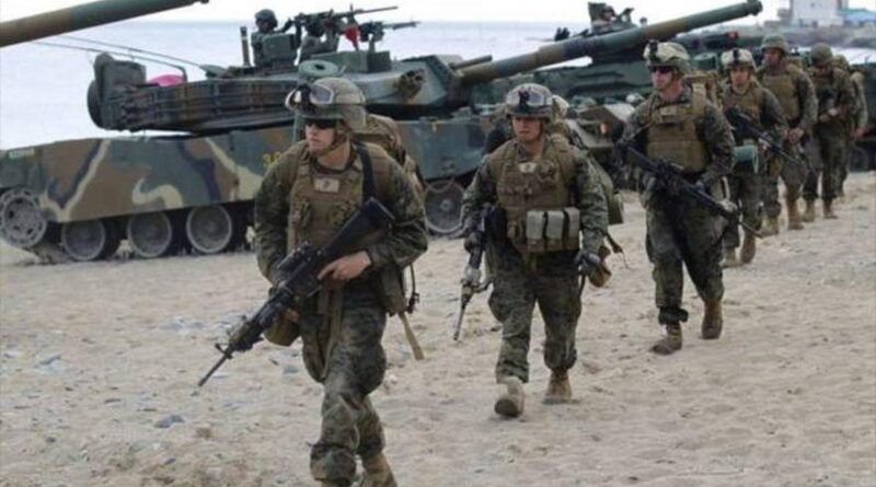 Featured image: US troops deployed on South Korean soil. Photo courtesy of HispanTV.