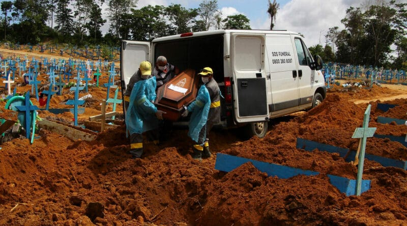 Featured image: Cemetery collapse still happening in Brazil. Photo AP.