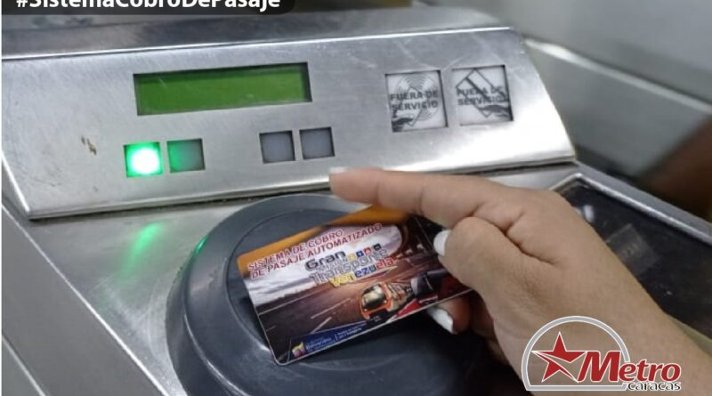 Featured image: New electronic payment card in the Caracas Metro. Photo courtesy of Metro de Caracas.