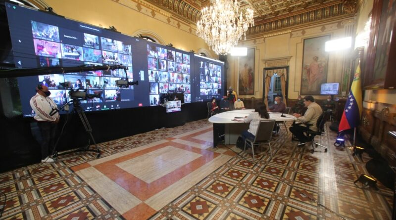 Featured image: President Maduro during a video conference in the Miraflores Palaca. Photo courtesy of Prensa Presidencial.
