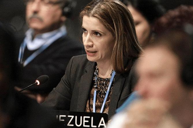 Venezuelan ambassador Claudia Salerno. File photo.