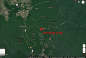 Eteringbang airstrip in the border of Venezuela and Guyana.