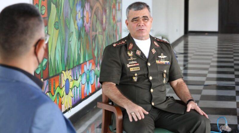 "Venezuelan Minister for Defense, Vladimir Padrino-Lopez. Photo courtesy of ""Aqui con Ernesto."""
