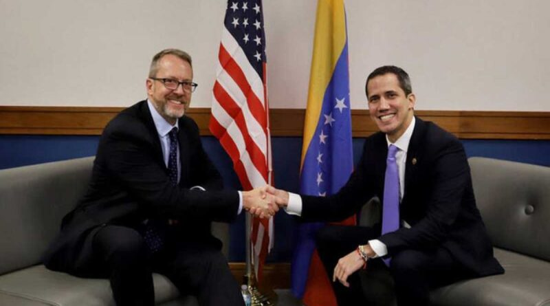 Featured image: US ambassador 2.0 to Venezuela and head of Venezuelan opposition, James Story with former deputy Juan Guaido. File photo.