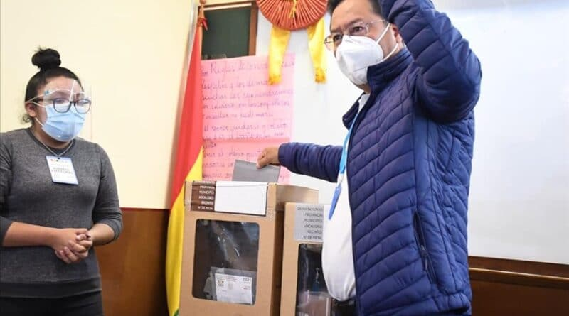Featured image: President of Bolivia, Luis Arce, voting in regional elections won by his party MAS. Photo courtesy of HispanTV.
