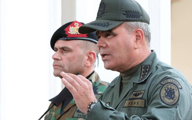 Featured image: Venezuelan Minister for Defense, Vladimir Padrino Lopez and Commander Remigio Ceballos, head of the CEOFANB. File photo.