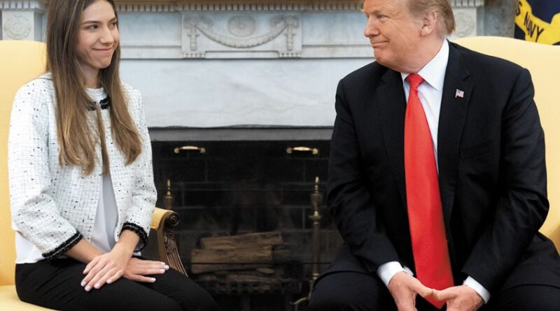 Featured image: Former deputy Guaido's wife, Fabiana Rosales in a meeting with Donal Trump. File photo