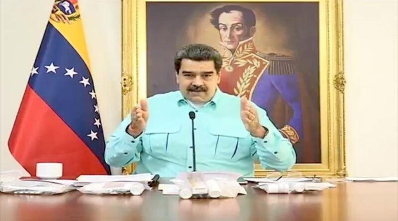 Featured image: Venezuelan President Nicolas Maduro denouncing the US government for forbidding pharmaceutical corporations to sale anti COVID-19 vaccines to Venezuela. Photo courtesy of HispanTV.