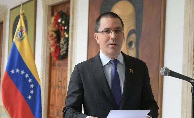 Foreign Affairs Minister Jorge Arreaza, Caracas, Venezuela, 2020. | Photo:Twitter/@El_Ciudadan