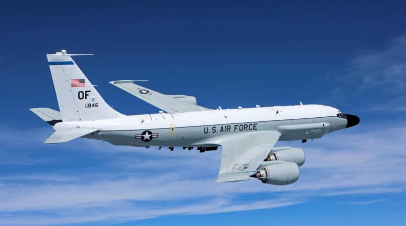 Featured image: A US Boeing RC-135 reconnaissance jet similar to this one was reported near the border of Venezuela in the State of Apure. File photo.